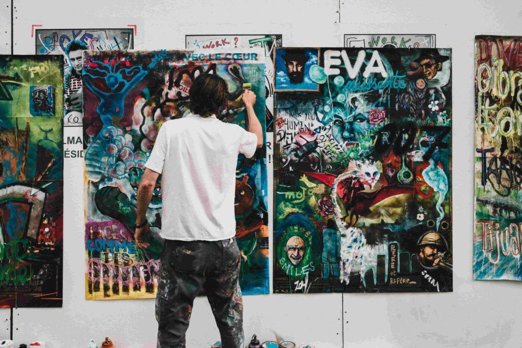 Individuelle Künstler Websites